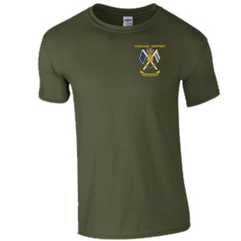 Command Support Embroidered T-shirts